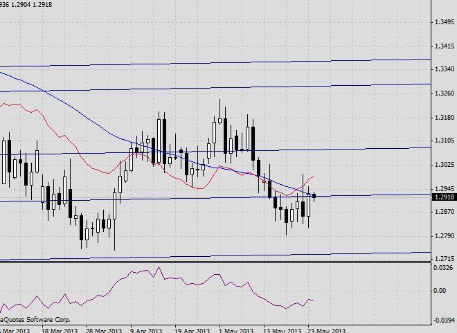 EUR/USD. Прогноз на 24 мая 2013 г.