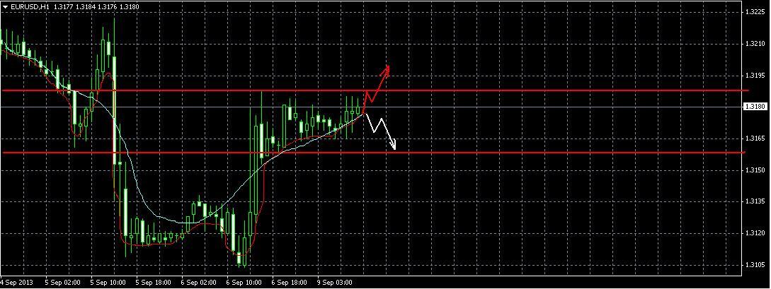 EUR/USD  Прогноз на 9.09.2013 год.