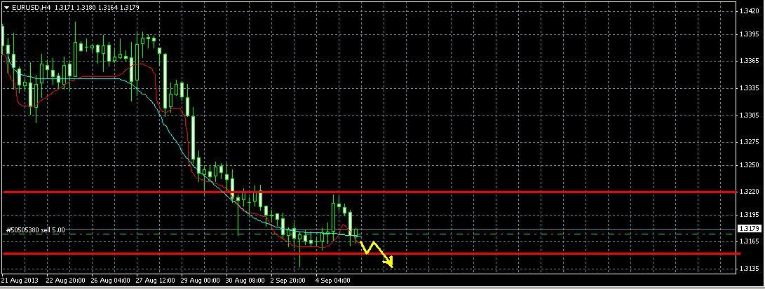 EUR/USD. Прогноз на 5.09.2013.